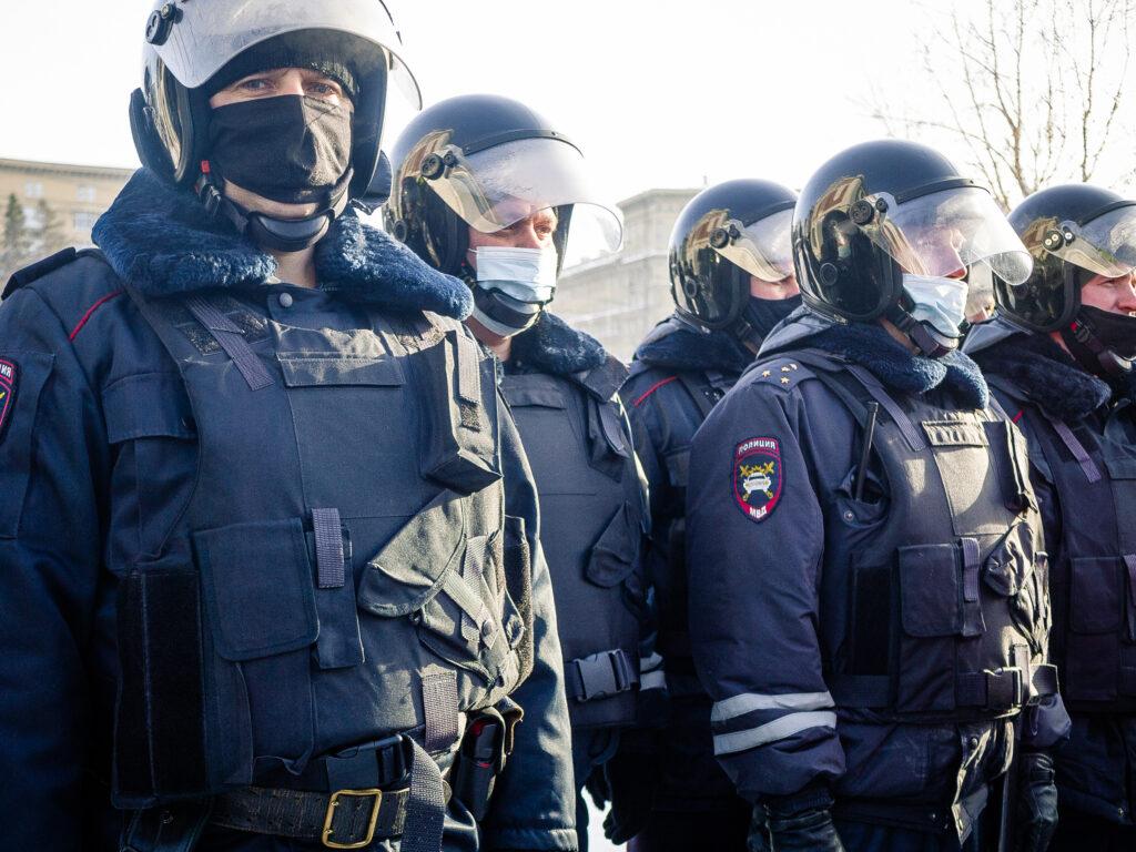 Митинг в Первомайском сквере 31 января 2021 года. Фото Елены Берсеневой